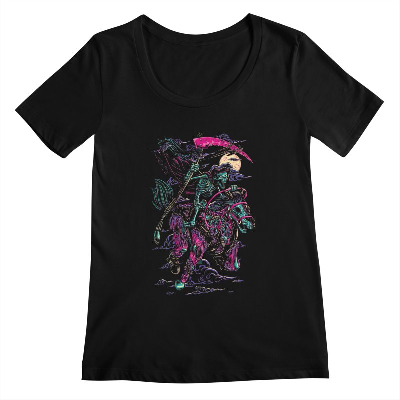 Death Rider Women's Scoopneck by ramos's Artist Shop