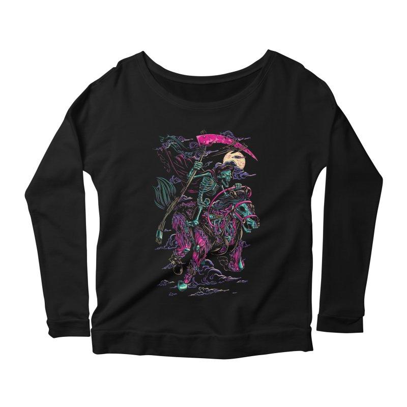Death Rider Women's Longsleeve Scoopneck  by ramos's Artist Shop