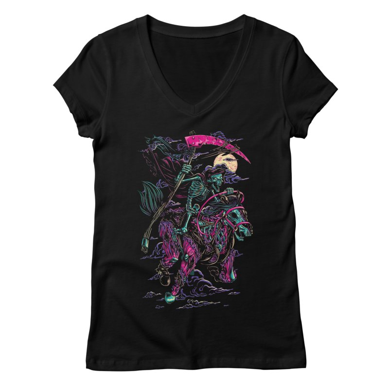 Death Rider Women's V-Neck by ramos's Artist Shop