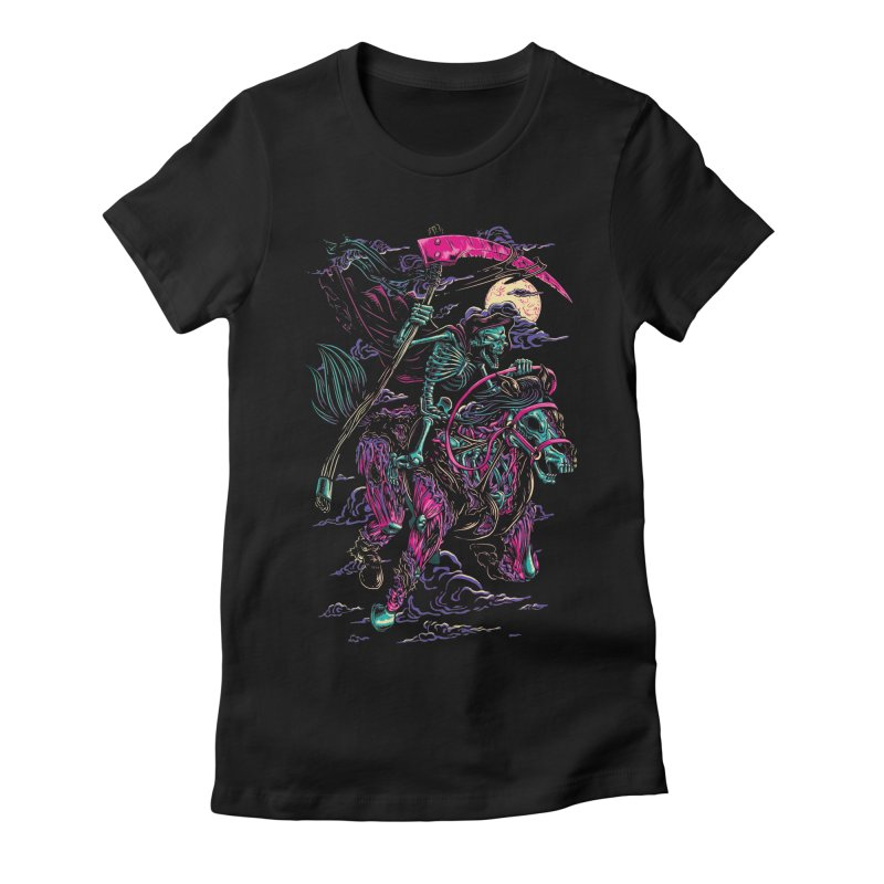 Death Rider Women's Fitted T-Shirt by ramos's Artist Shop
