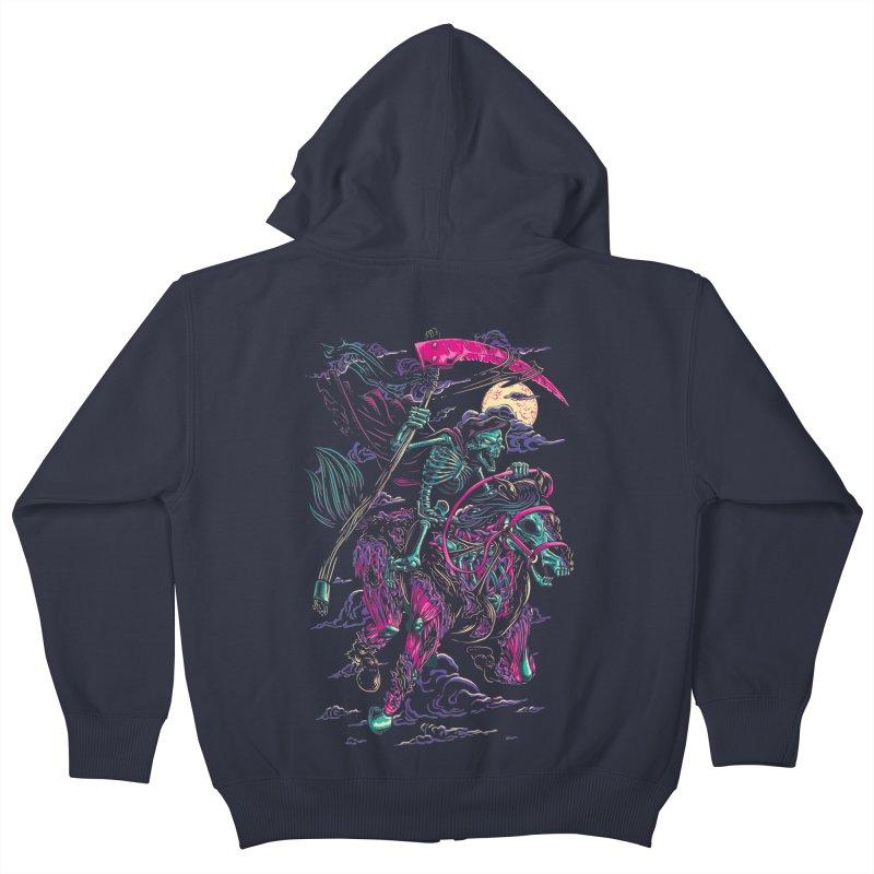 Death Rider Kids Zip-Up Hoody by ramos's Artist Shop