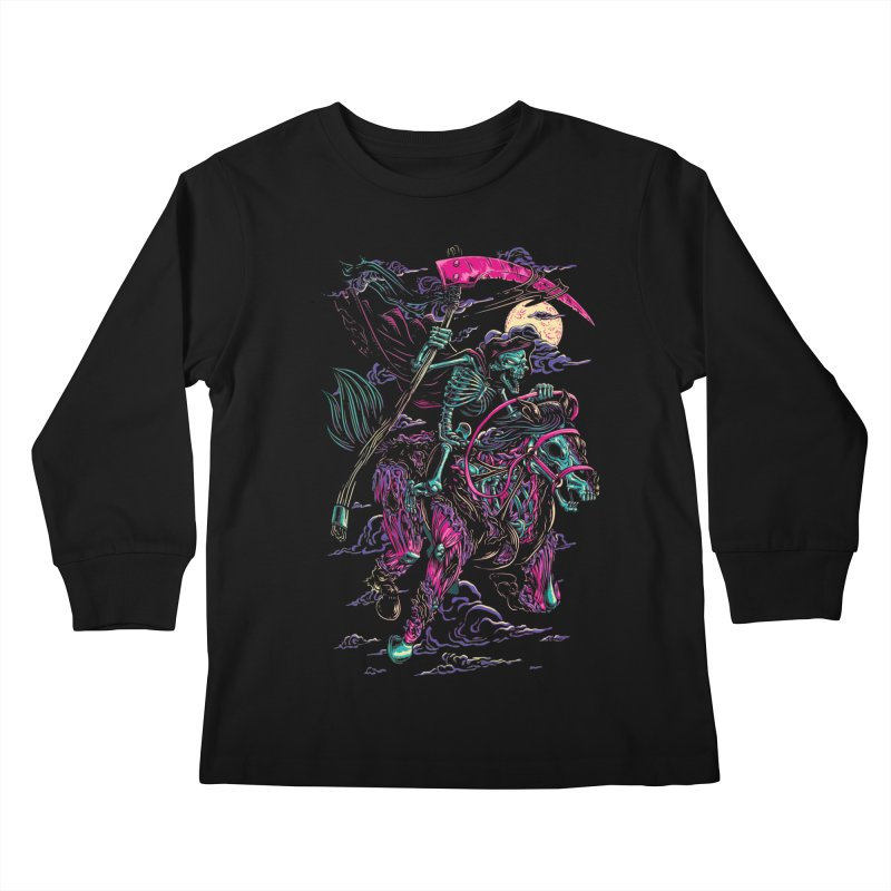 Death Rider Kids Longsleeve T-Shirt by ramos's Artist Shop