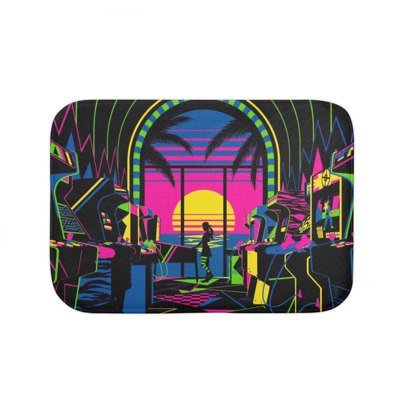 Play All Night Home Bath Mat by ramos's Artist Shop