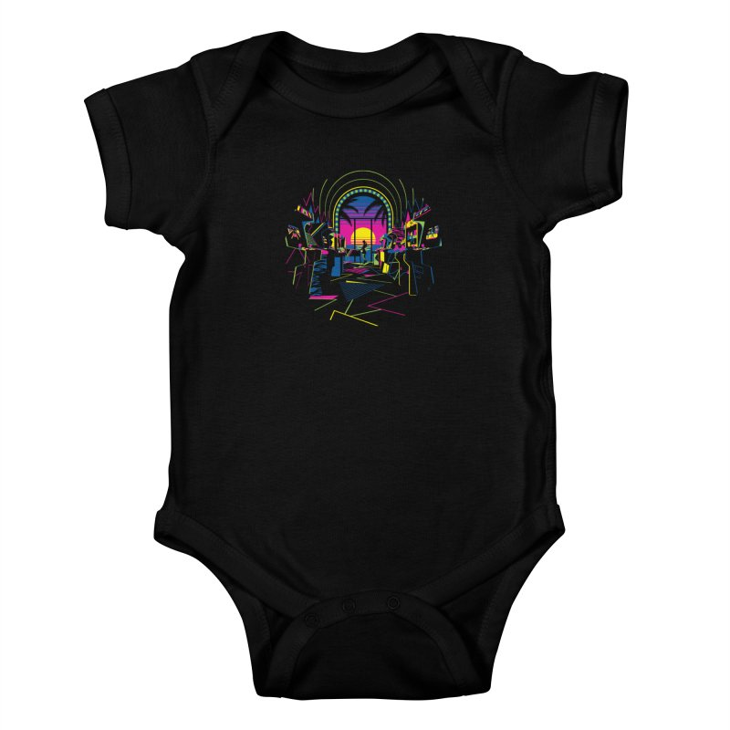 Play All Night Kids Baby Bodysuit by ramos's Artist Shop
