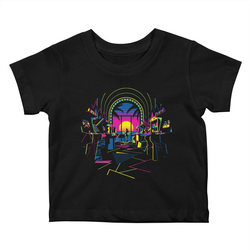 Play All Night Kids Baby T-Shirt by ramos's Artist Shop