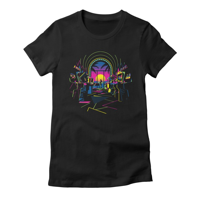 Play All Night Women's Fitted T-Shirt by ramos's Artist Shop