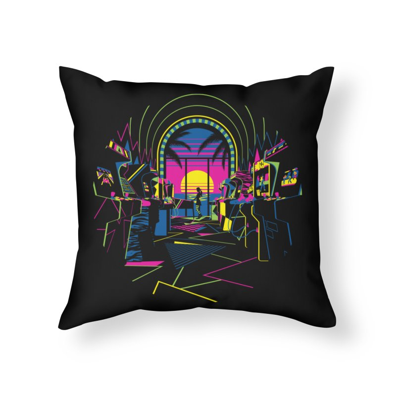 Play All Night Home Throw Pillow by ramos's Artist Shop