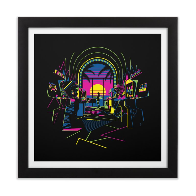 Play All Night Home Framed Fine Art Print by ramos's Artist Shop