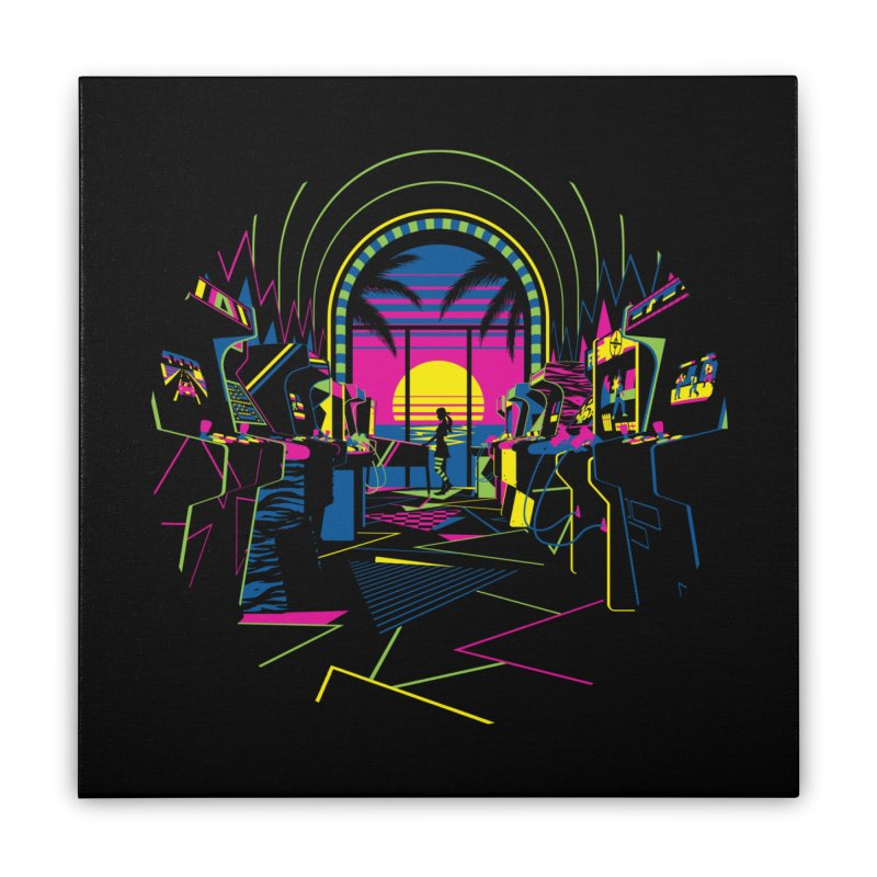 Play All Night Home Stretched Canvas by ramos's Artist Shop