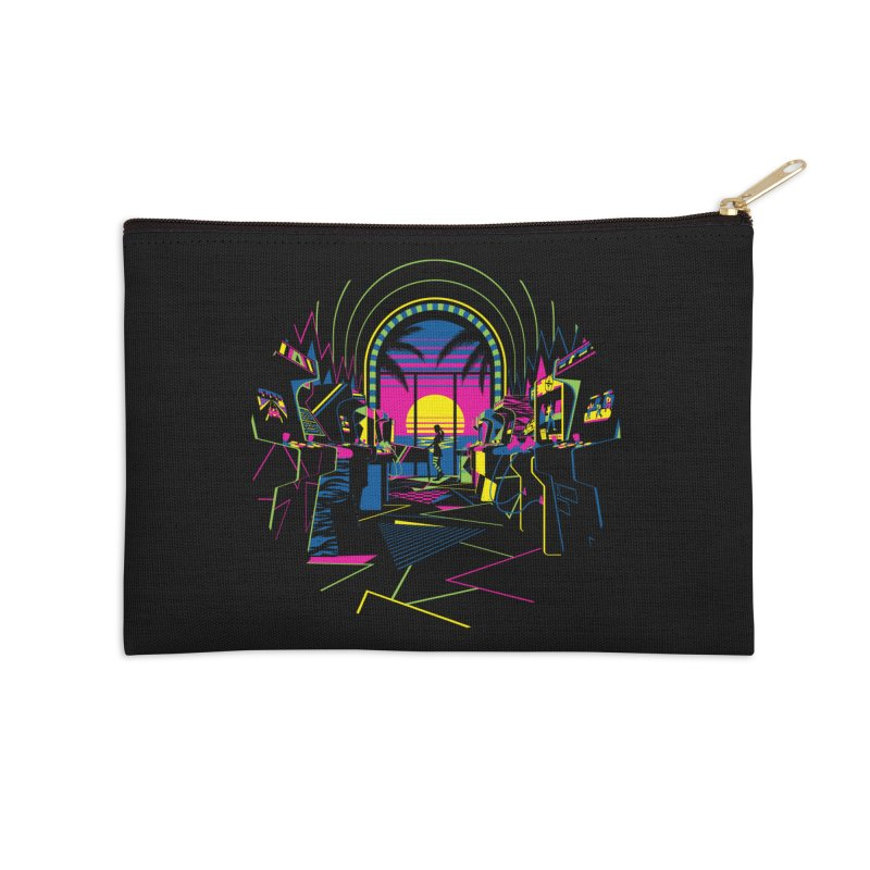 Play All Night Accessories Zip Pouch by ramos's Artist Shop