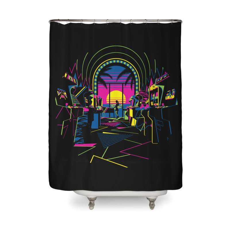 Play All Night Home Shower Curtain by ramos's Artist Shop