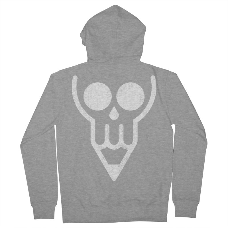Skull & Pencil Women's French Terry Zip-Up Hoody by ramos's Artist Shop