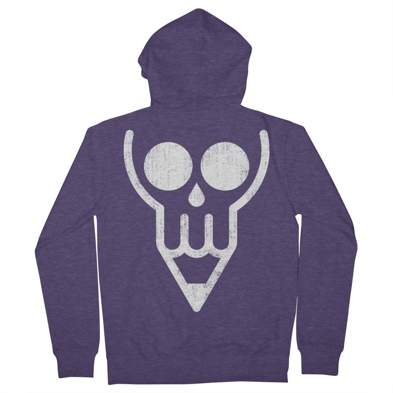 Skull & Pencil Men's French Terry Zip-Up Hoody by ramos's Artist Shop