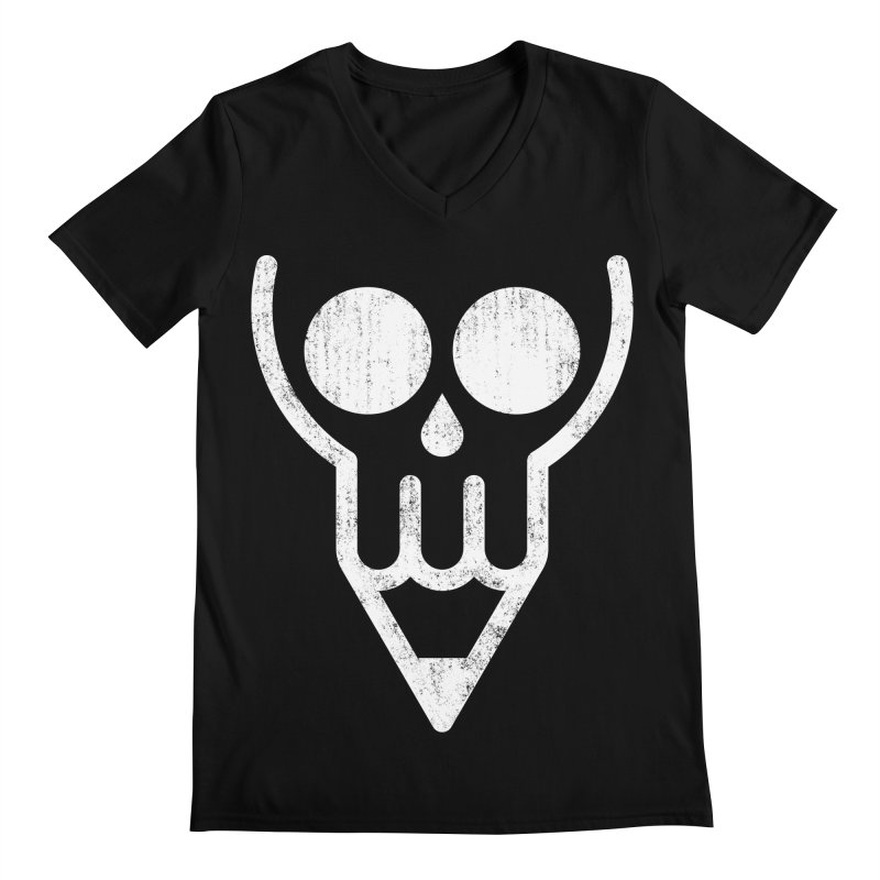 Skull & Pencil Men's V-Neck by ramos's Artist Shop