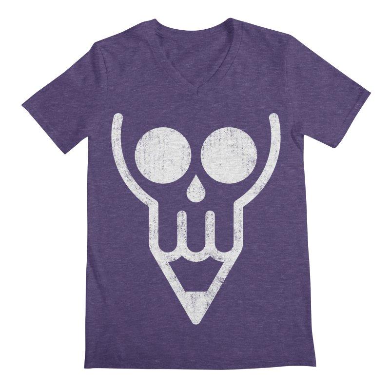 Skull & Pencil Men's Regular V-Neck by ramos's Artist Shop