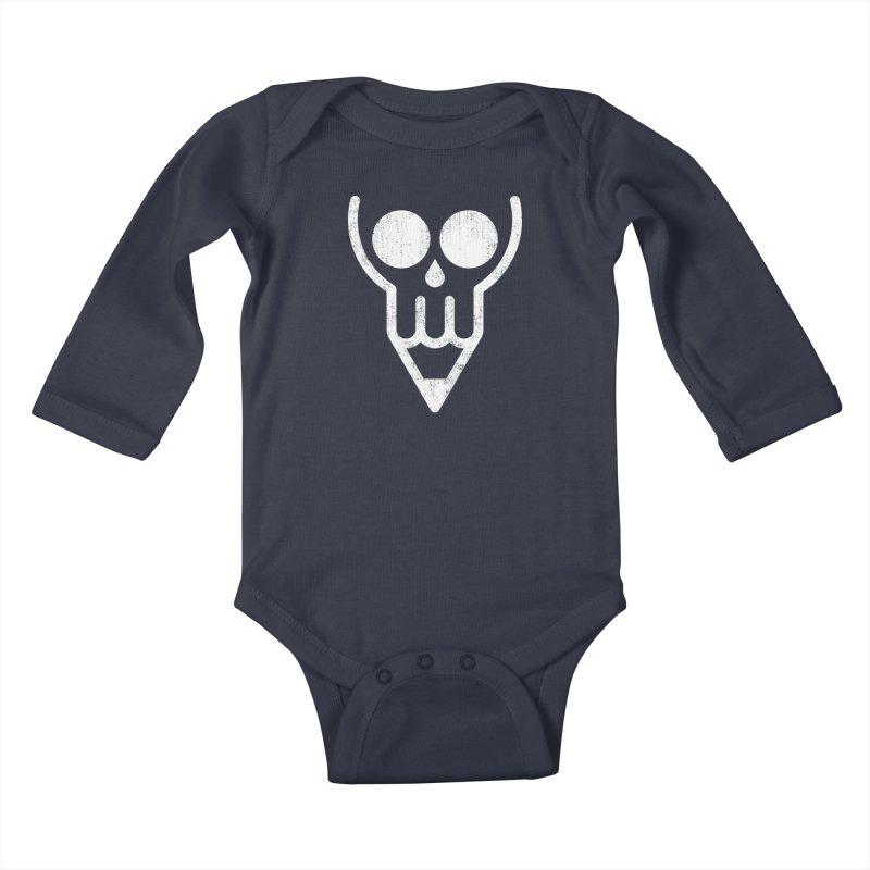 Skull & Pencil Kids Baby Longsleeve Bodysuit by ramos's Artist Shop