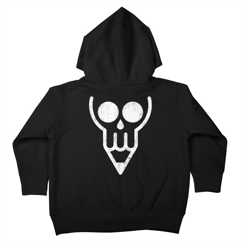 Skull & Pencil Kids Toddler Zip-Up Hoody by ramos's Artist Shop