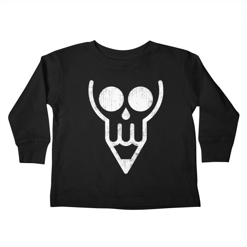 Skull & Pencil Kids Toddler Longsleeve T-Shirt by ramos's Artist Shop