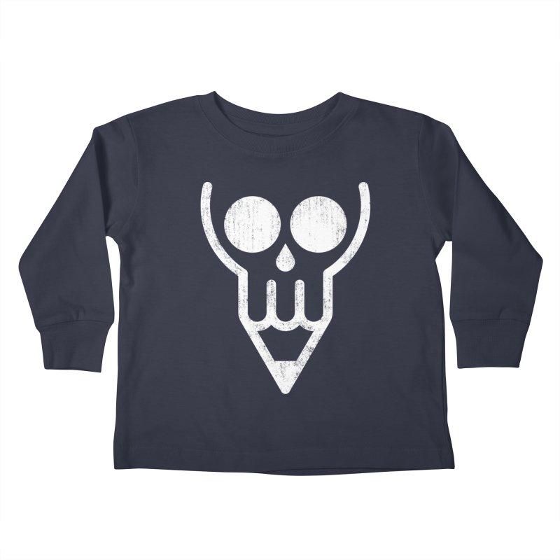 Skull & Pencil Kids Toddler Longsleeve T-Shirt by ramos's Artist Shop