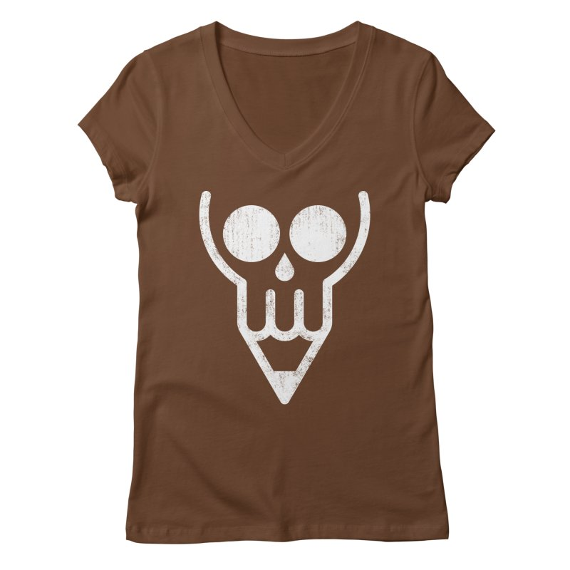 Skull & Pencil Women's V-Neck by ramos's Artist Shop
