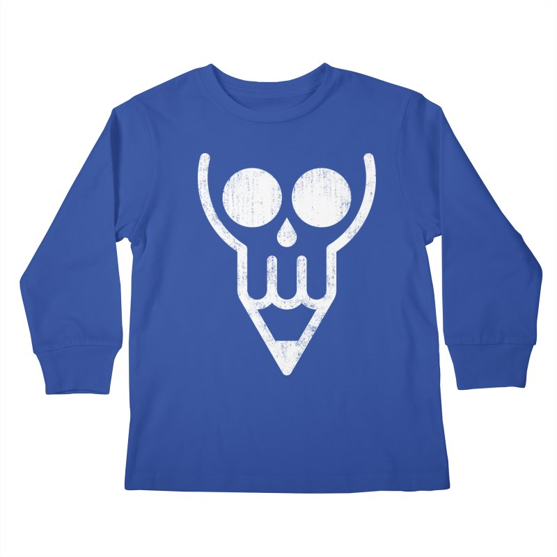Skull & Pencil Kids Longsleeve T-Shirt by ramos's Artist Shop