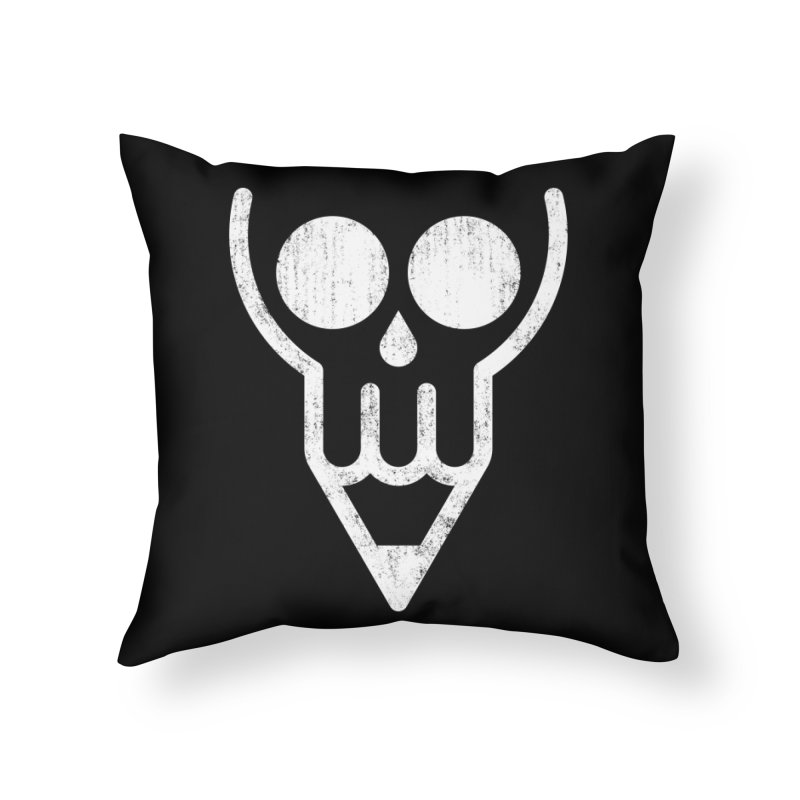 Skull & Pencil Home Throw Pillow by ramos's Artist Shop