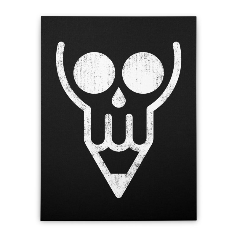 Skull & Pencil Home Stretched Canvas by ramos's Artist Shop
