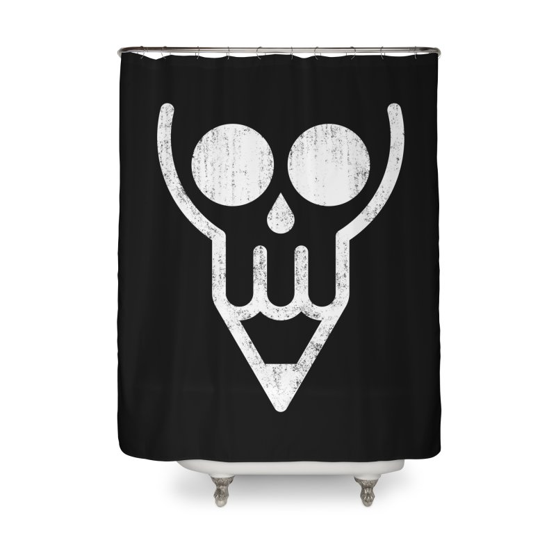 Skull & Pencil Home Shower Curtain by ramos's Artist Shop