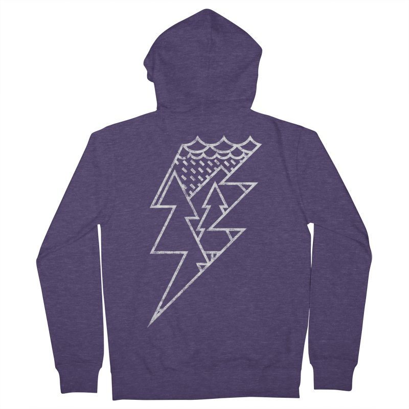 Storm in the forest Men's Zip-Up Hoody by ramos's Artist Shop