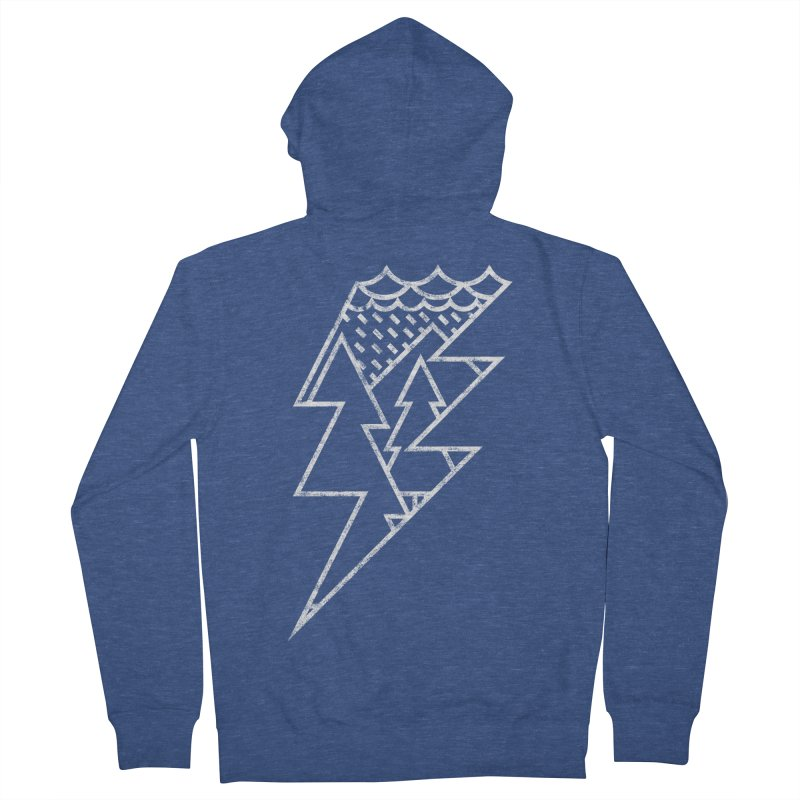 Storm in the forest Men's French Terry Zip-Up Hoody by ramos's Artist Shop