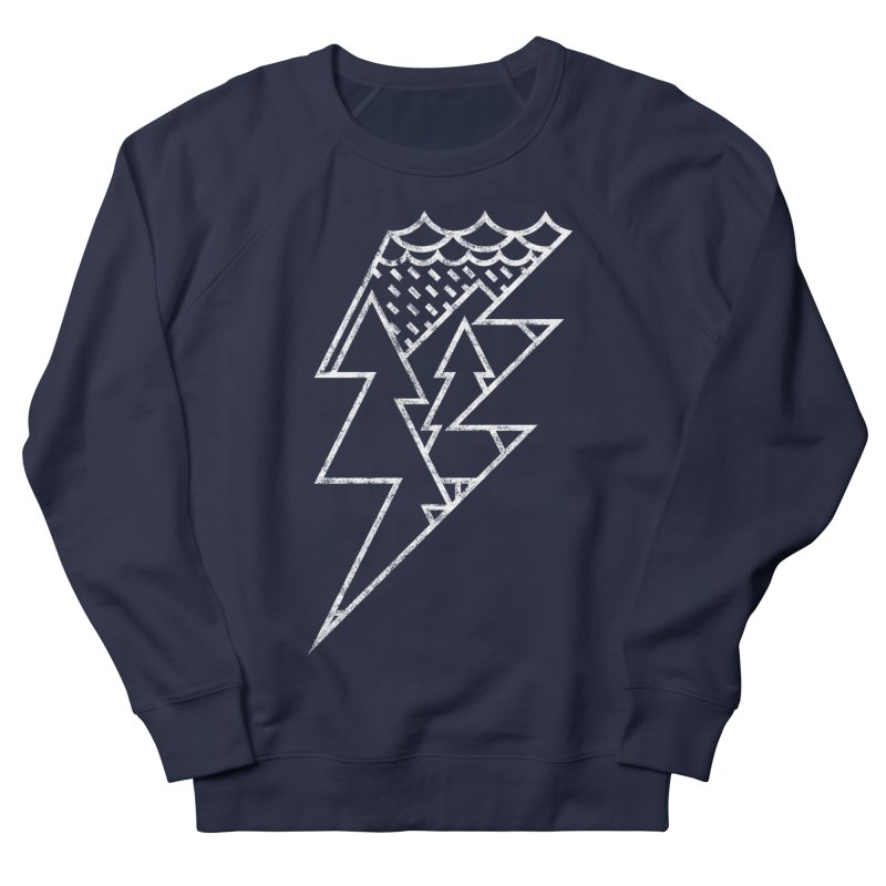 Storm in the forest Women's French Terry Sweatshirt by ramos's Artist Shop