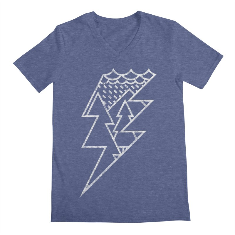 Storm in the forest Men's V-Neck by ramos's Artist Shop