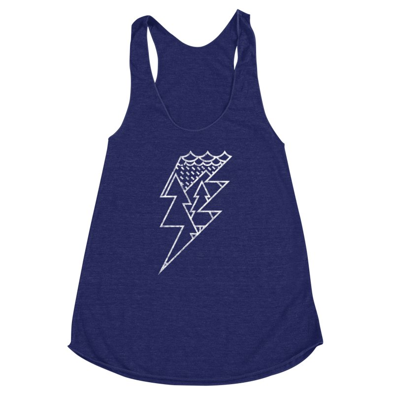 Storm in the forest Women's Racerback Triblend Tank by ramos's Artist Shop