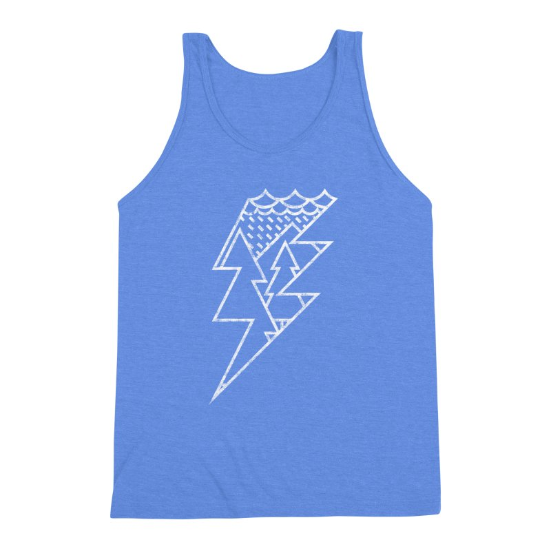 Storm in the forest Men's Triblend Tank by ramos's Artist Shop