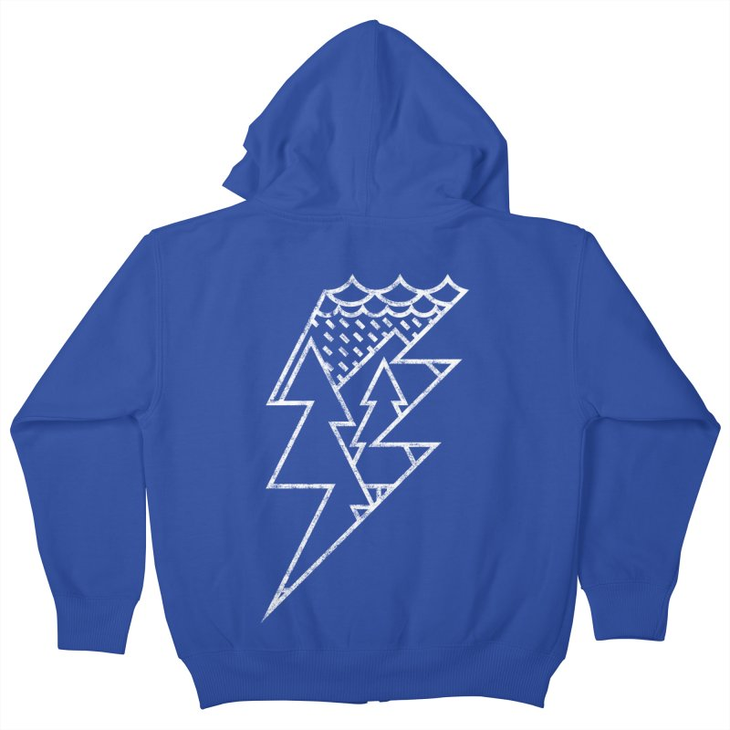 Storm in the forest Kids Zip-Up Hoody by ramos's Artist Shop