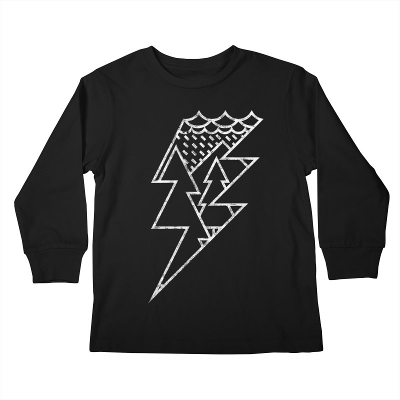 Storm in the forest Kids Longsleeve T-Shirt by ramos's Artist Shop