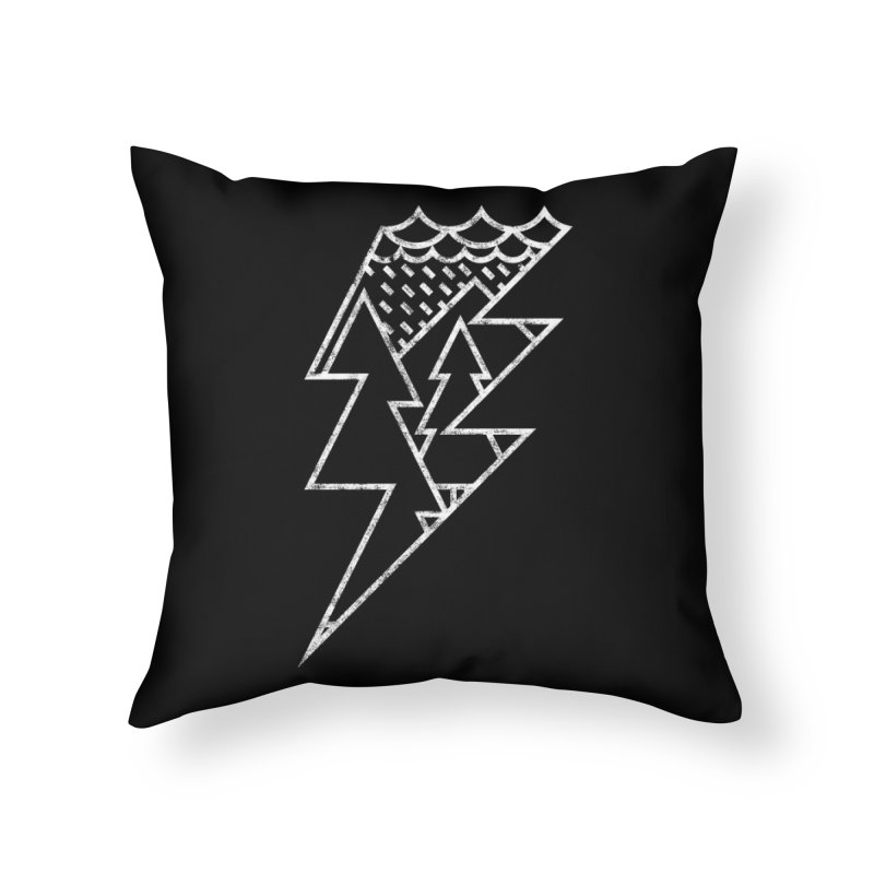 Storm in the forest Home Throw Pillow by ramos's Artist Shop