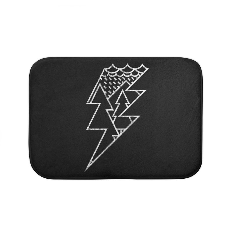 Storm in the forest Home Bath Mat by ramos's Artist Shop