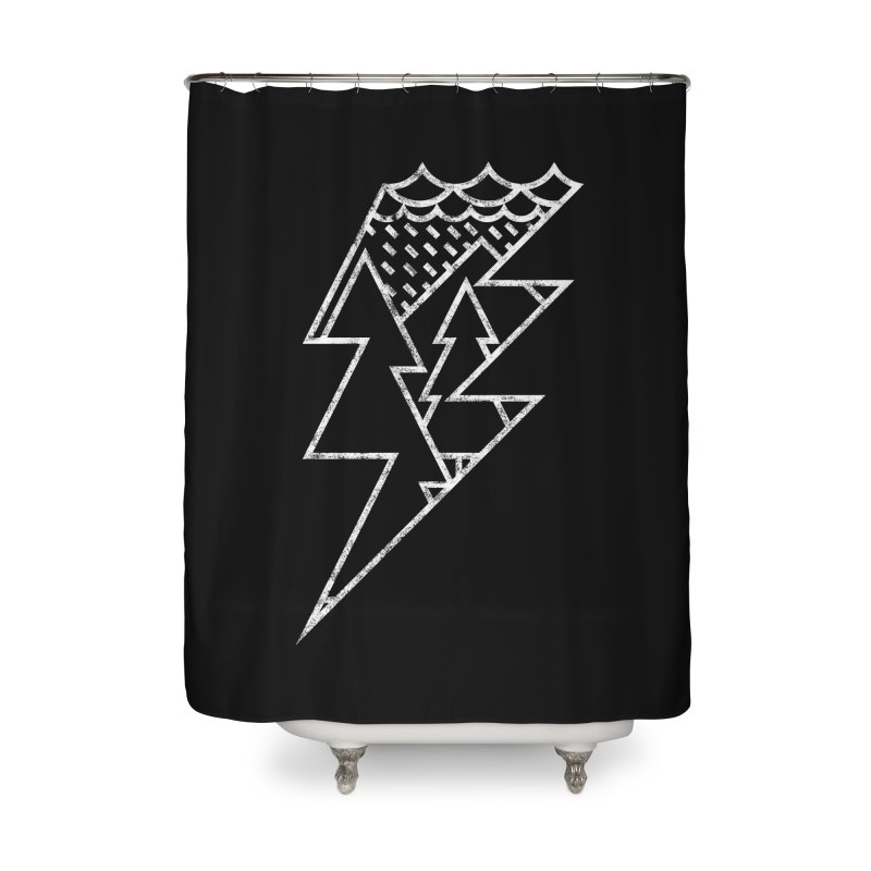 Storm in the forest Home Shower Curtain by ramos's Artist Shop