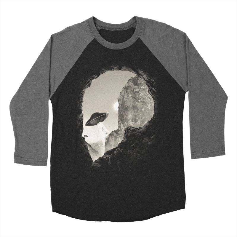 Alien´s Head Men's Baseball Triblend T-Shirt by ramos's Artist Shop