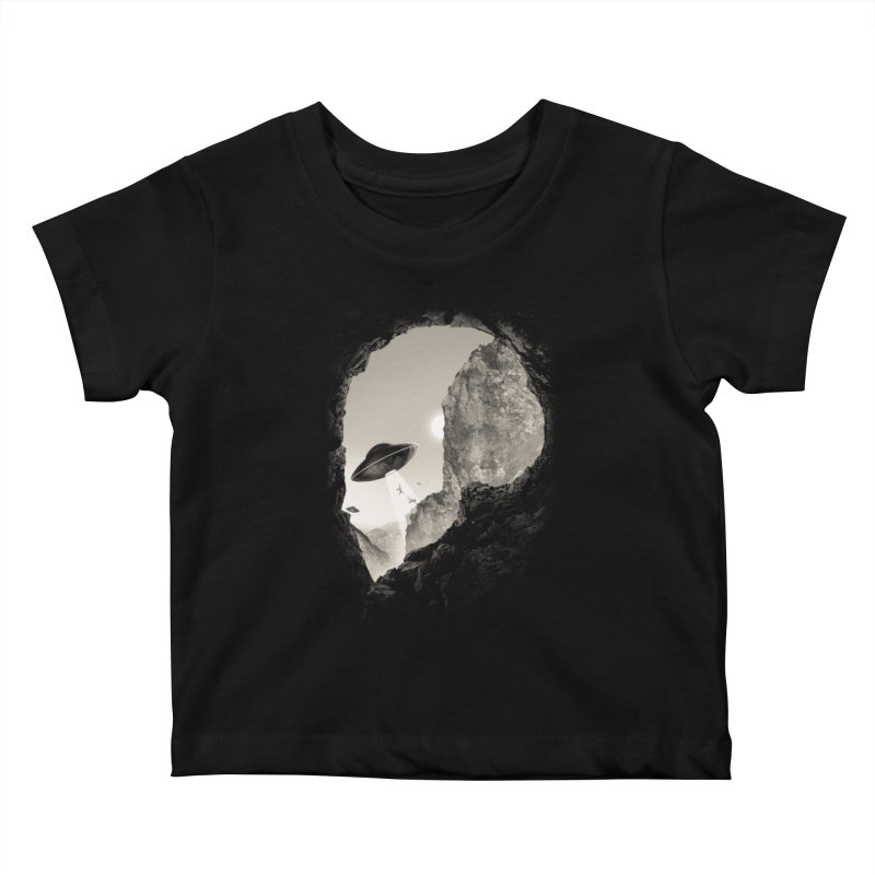 Alien´s Head Kids Baby T-Shirt by ramos's Artist Shop