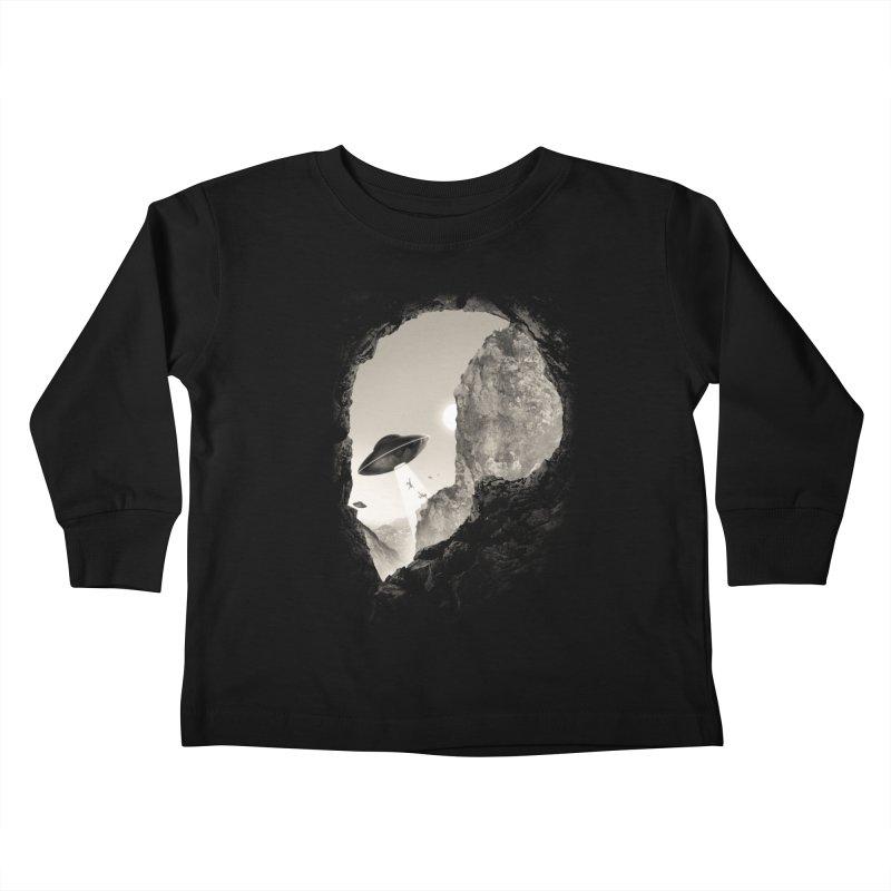 Alien´s Head Kids Toddler Longsleeve T-Shirt by ramos's Artist Shop