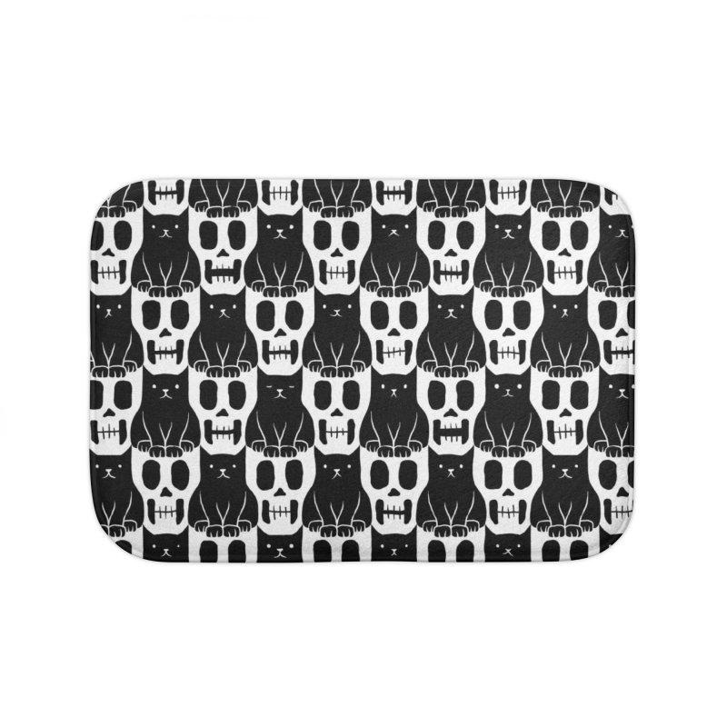 Skulls & Cats Home Bath Mat by ramos's Artist Shop
