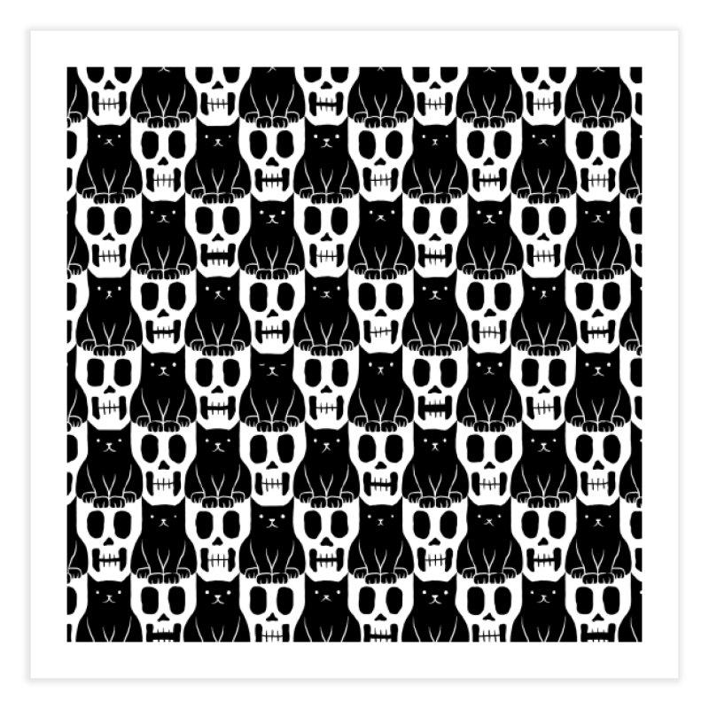 Skulls & Cats Home Fine Art Print by ramos's Artist Shop