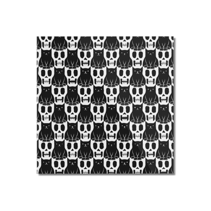 Skulls & Cats Home Mounted Acrylic Print by ramos's Artist Shop