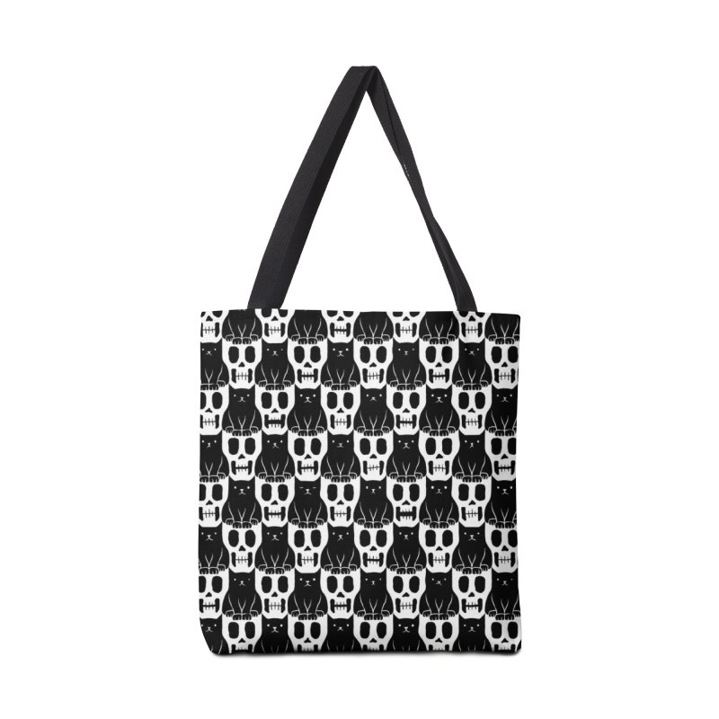 Skulls & Cats Accessories Bag by ramos's Artist Shop
