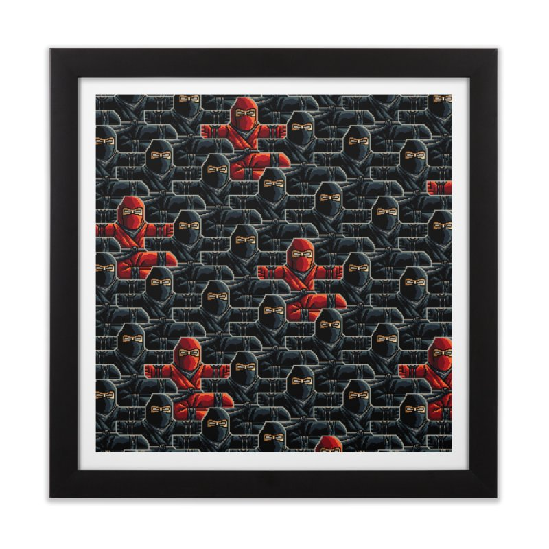 Ninja Kicks Home Framed Fine Art Print by ramos's Artist Shop