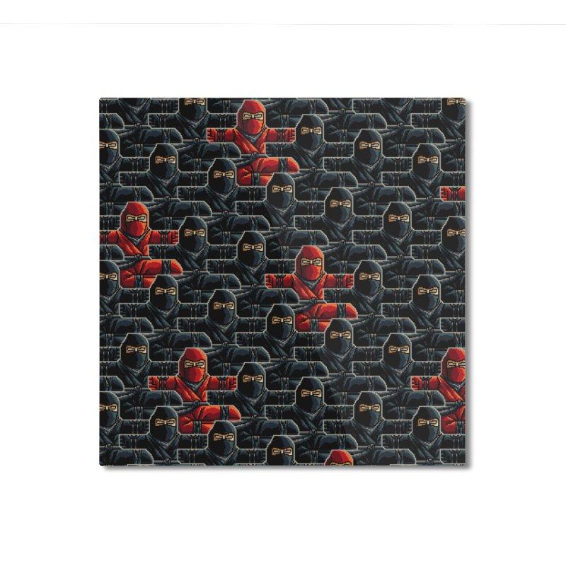 Ninja Kicks Home Mounted Aluminum Print by ramos's Artist Shop