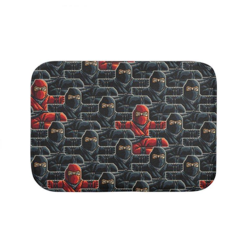 Ninja Kicks Home Bath Mat by ramos's Artist Shop