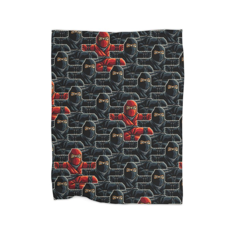 Ninja Kicks Home Blanket by ramos's Artist Shop